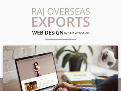 Website Design + Web Development For Raj Overseas Exports