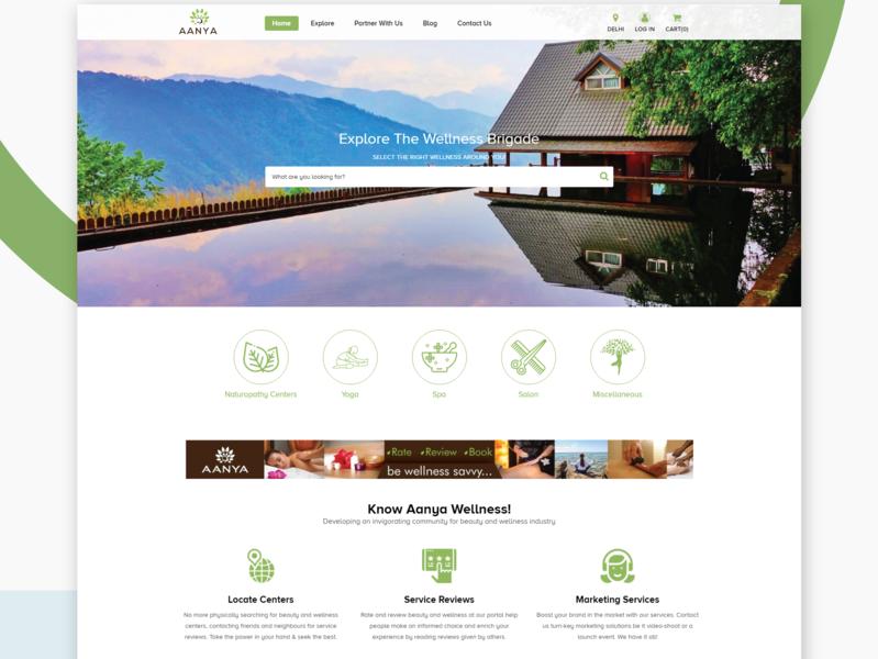Website Design + Website Development For Aanya by SAM WEB ...