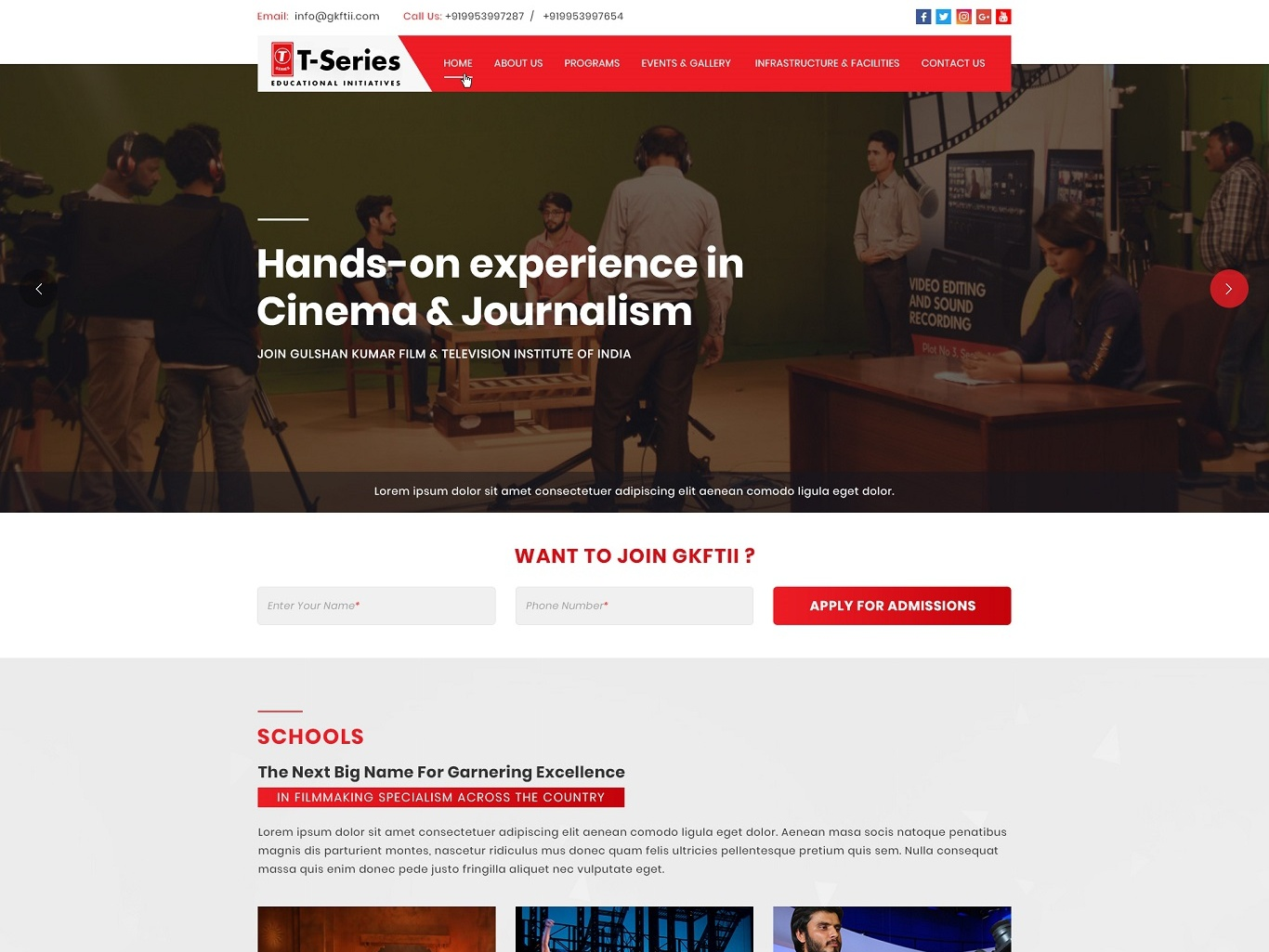 Website Design + Website Development For GKFTII (T-Series ...