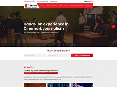Website Design + Website Development For GKFTII (T-Series)