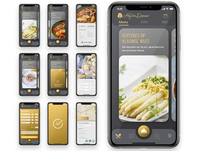 Takeout App Design for Belgian Caterer kallo hof ten damme wine order menu menu food order flemish belgian caterer branding ux ui app design takeout