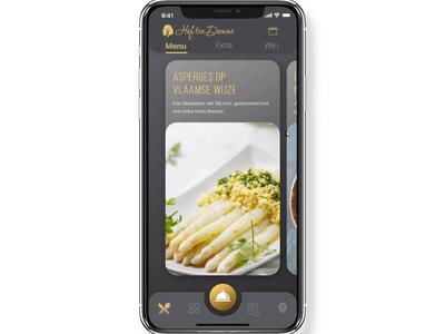 Belgian Takeout App Prototype caterer kallo hof ten damme food flemish design belgian app design ux ui