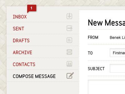 Intranet Concept 7 web white black red icon nav list texture weave aut intranet maori form