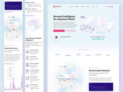PredictHQ Website II data-viz data graph startup illustration responsive web