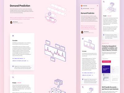 PredictHQ Website VII graph data-viz data startup illustration responsive web