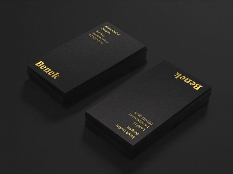 Benek Gold Foil Biz Cards By Benek Lisefski Dribbble