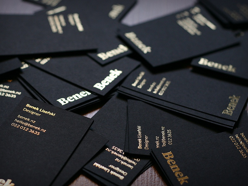 If Darth Vader did business cards print new-zealand auckland foil gold black dark minimal branding stationery business-card
