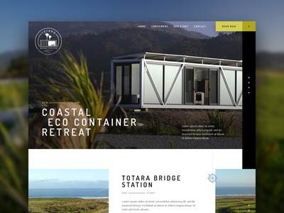 Totara Bridge Station landscape scenic nature environment industrial architecture retreat container eco new-zealand responsive web