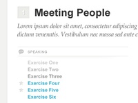 Exercise list