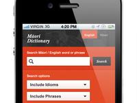 Maori Dictionary iPhone App Detail