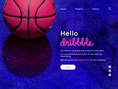 Hello Dribbble! debut clean web minimal web design ui hellodribbble firstshot design