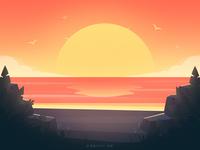 日落sunset