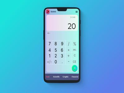 Calculator Design Dailyui 004