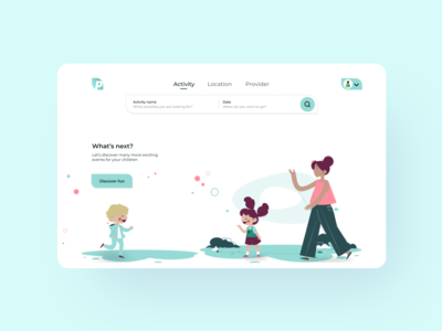Landing page for children booking site booking children design uxdesign ux uxui uidesign ui landing page design landingpagedesign landingpage