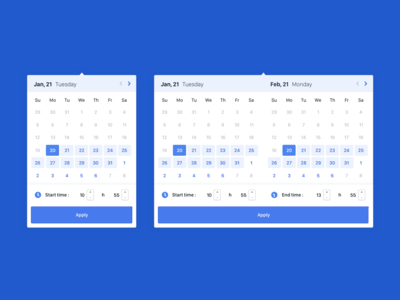 Calendar for service marketplace.