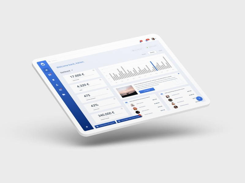 Dashboard sketch ui marketplace dashboard