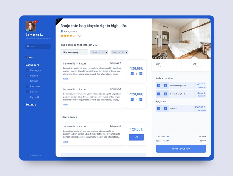 Admin view / service marketplace card design ui sketch admin marketplace