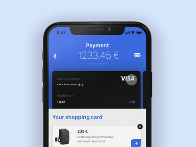 Mobile payment animation