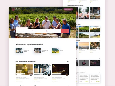 WineBnB design branding ui services service marketplace service design service sketch cocorico cocolabs marketplace
