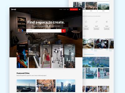Spacefy marketplace service design service branding marketplace design ui sketch