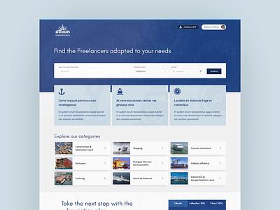 Ocean Freelancers cocolabs design card animation motion branding service marketplace service design marketplace sketch