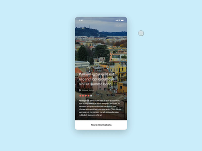 Mobile booking page