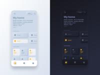 Neumorphic iPhone Home app redesign