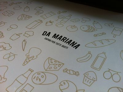 Da Mariana grocieres bag design and logo packaging design logo print
