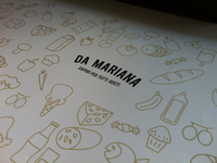 Da Mariana grocieres bag design and logo