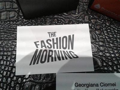The Fashion Morning business card business card print logo design stationary branding