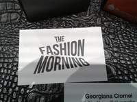 The Fashion Morning business card