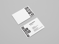 Business Cards Sergiu Naslau Design Studio