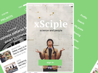 UI app design - xSciple