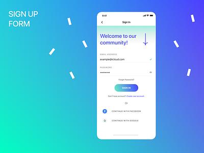 Sign up form 2021 2021 gradient webdesig mobile design mobile app sign in signin uxui uidesign mobile ui mobile web ux app form signup ui dailyui dailyui 001 design