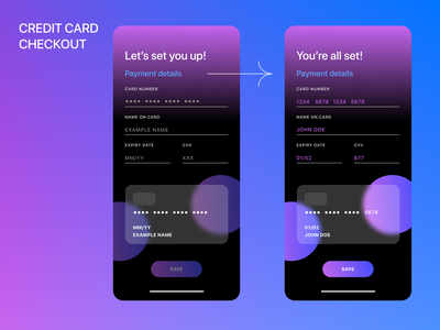 Creditcard checkout 2021 mobile app payment method payment form cards ui uidesign uxui digital cardui creditcard creditcardcheckout mobile ui app payment dailyui002 form mobile design dailyui ui