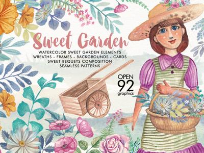 Watercolor Sweet Garden