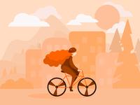 Autumn by bike