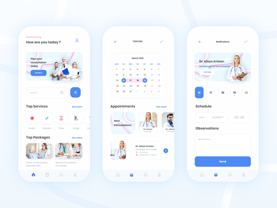 Medical Health Care App 🧬 typography concept web minimalistic healthcare hospital appointment doctor medical care consultation covid health medical app app design application uiuxdesign ux ui
