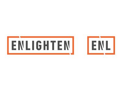 Enlighten Responsive Logo Study responsive agency enlighten grey orange study logo