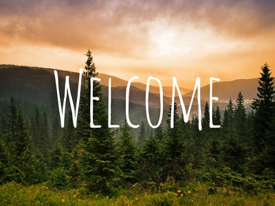 Welcome welcome photography typography