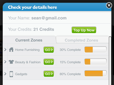 Check Your Details ui form buttons modal window