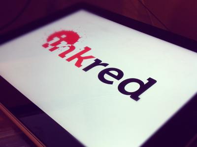 Inkred logo branding ipad