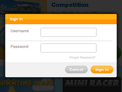Sign In Form sign in form modal