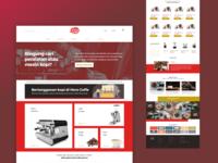 hero coffee ui design illustration branding uiux user interface illustration design design