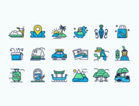 ICON PACK icon user interface traveling vector illustrations design ui design illustration design