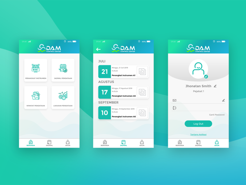 Upload Dribbble user interface perum jasa tirta ii design uiux ui design ui
