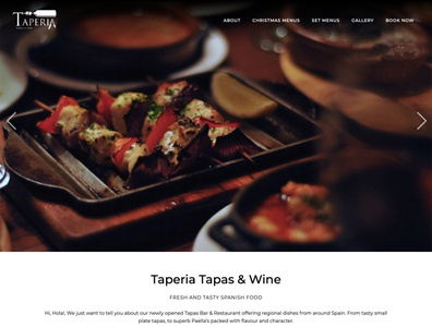 Taperia Tapas Corporate Website