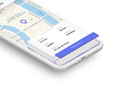 Interactive Map userexperience design adobe xd iphone app interface flat ux ui