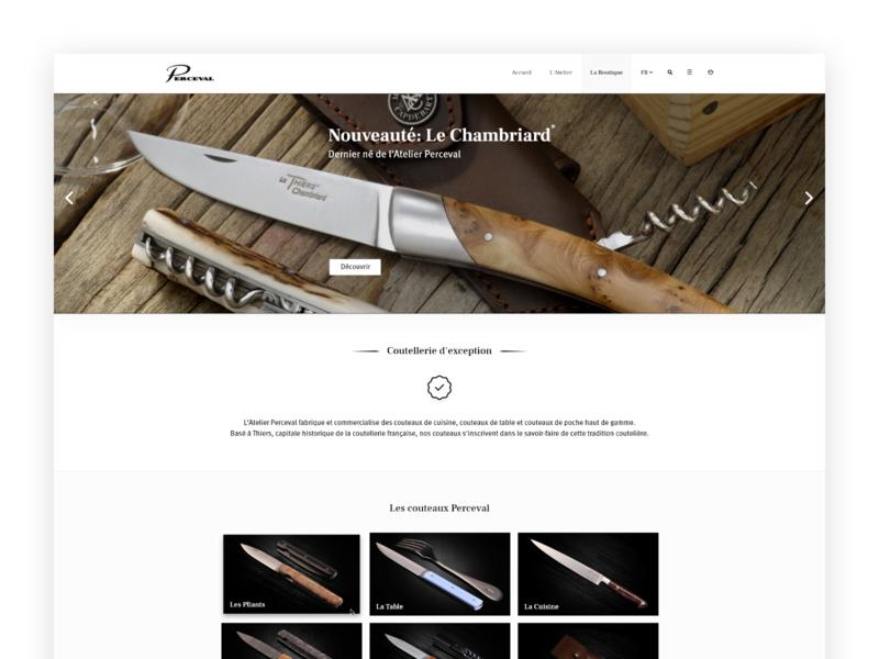 Perceval - Shop Page ux knife adobe xd flat ui ux design ui interface webdesign web