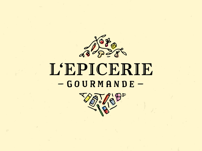 Grocery Logo vintage procreate app grocery app typography vector illustrator branding logo